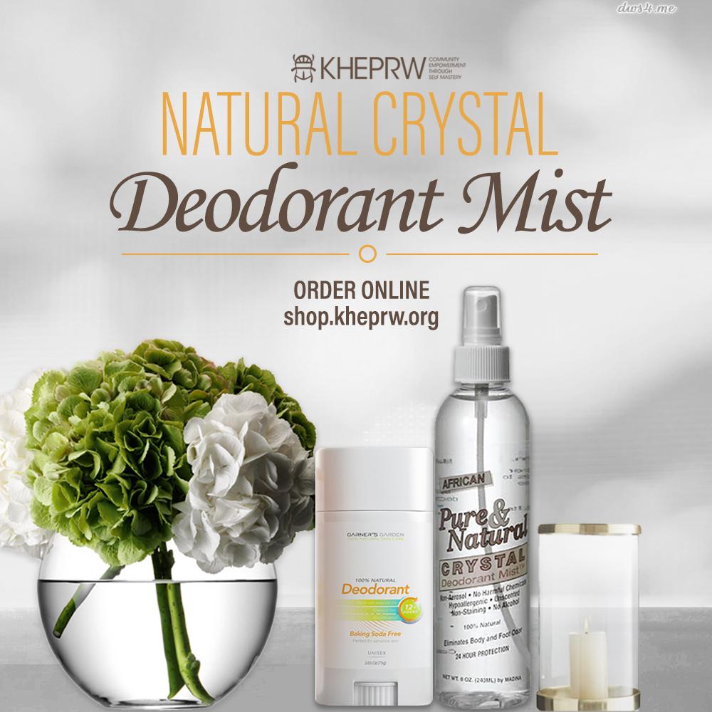Natural Crystal Deodorant Mist